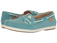 Sperry Coil Ivy Perf Aqua Women's Moccasin Shoes Blue