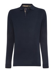 Barbour Men's Long Sleeve Sports Polo Shirt Navy