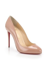 Christian Louboutin Dorissima Patent Leather Pumps Nude Black