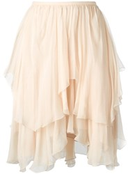 Chloe Tiered Ruffled Skirt Pink Purple