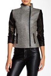 Stella And Jamie Millau Asymmetrical Zip Jacket Gray