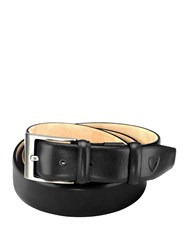 Aspinal Of London Classic Men's Belt In Smooth Black