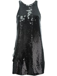 Vionnet Sequin Mini Dress Black