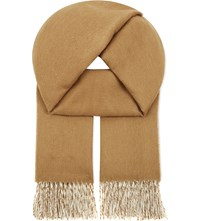 Johnstons Two Tone Cashmere Stole Vicuna