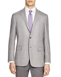 Hart Schaffner Marx Hart Shaffner Marx Platinum Label Windowpane Check Classic Fit Sport Coat 100 Bloomingdale's Exclusive Light Blue