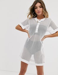 Na Kd Mesh Oversized Dress White