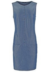 Opus Weronie Summer Dress Indigo Wash Blue