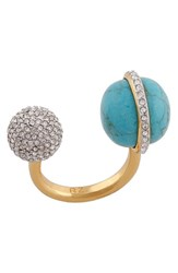 Women's Rachel Zoe 'Kyra' Double Sphere Open Ring