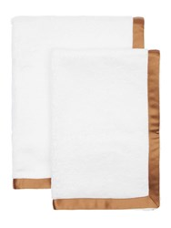 Alessandro Di Marco Set Of 2 Cotton Terrycloth Towels White