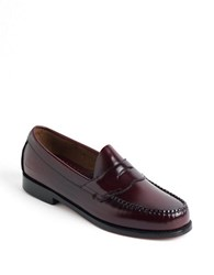 Bass Logan Penny Loafers Burgundy