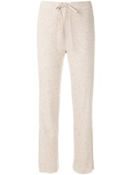 Sonia Rykiel Side Stripe Track Pants Nude And Neutrals