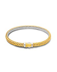 John Hardy Classic Chain Extra Small Reversible Silver And Gold Bracelet Gold And Silver