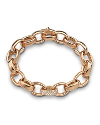 18K Rose Gold Marilyn Link Bracelet Monica Rich Kosann Pink