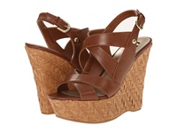 G By Guess Hamil Rio Maple Burnished Calf Pu Women's Wedge Shoes Brown