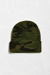 Urban Outfitters Uo Camo Watch Cap Green Multi