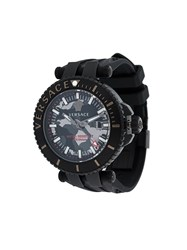 Versace 'V Race Camo Diver' Watch Black