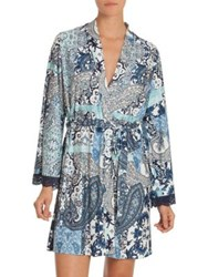 In Bloom On The Water Wrap Navy Aqua