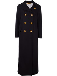 Golden Goose Deluxe Brand Long Double Breasted Coat Black