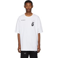 Off White And Black Splitted Arrows Over T Shirt