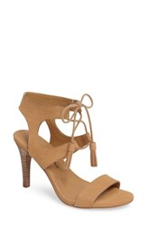Lucky Brand Women's Uzelia Ghillie Cage Sandal Glazed Leather