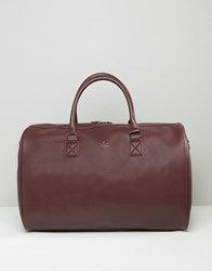 Asos Holdall In Burgundy With Gold Emboss Burgundy Red