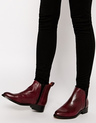 Whistles Bryton Oxblood Flat Chelsea Boots