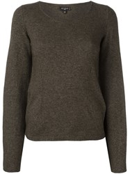 Etro Scoop Neck Jumper Brown