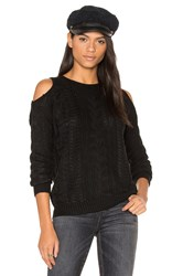 John And Jenn By Line Lina Cold Shoulder Sweater Black