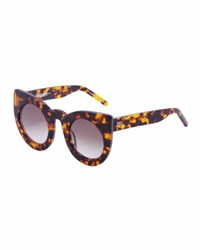 Valley Eyewear Wolves Gradient Cat Eye Sunglasses Brown Havana Brown Pattern