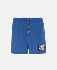 Stella Mccartney Blue No Smile No Service Swim Shorts