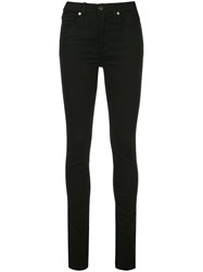 Veronica Beard Side Slit Skinny Jeans Black