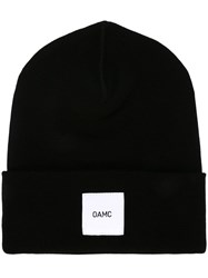 Oamc Logo Patch Beanie Black