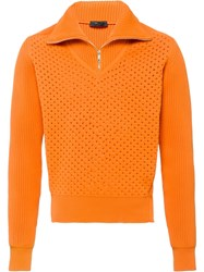 Prada Double Jacquard Jumper Orange