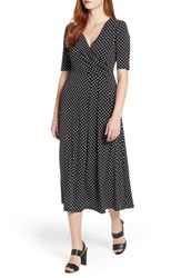 Chaus Garden Dot Midi Dress Rich Black
