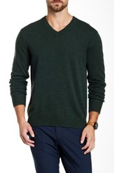 Qi Cashmere V Neck Sweater Green