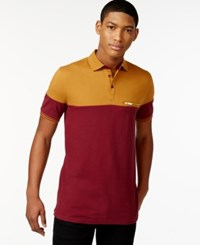 Sean John Colorblocked Polo Windsor Wine