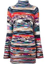 Missoni Multi Pattern Turtleneck Sweater