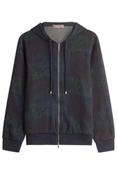 Etro Patchwork Paisley Print Hooded Sweatshirt Black