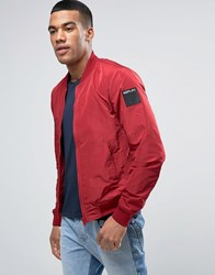 Replay Lightweight Bomber Jacket Red