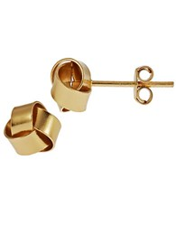 Lord And Taylor Contemporary Love Knot Stud Earrings Gold