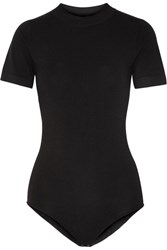 Dkny Stretch Jersey Bodysuit Black