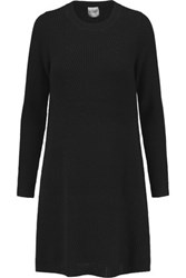 Madeleine Thompson Willington Ribbed Knit Wool And Cashmere Blend Dress Black