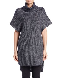 French Connection Hi Lo Turtleneck Tunic Blue