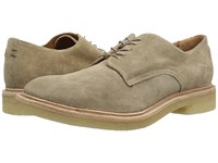 Frye Chris Crepe Oxford Ash Washed Waxed Suede Men's Lace Up Wing Tip Shoes Beige