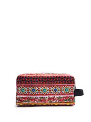 Dolce And Gabbana Carretto Print Large Washbag Red Multi