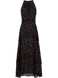 Proenza Schouler Tiered Floral Gown Black