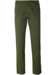 P.A.R.O.S.H. Cigarette Cropped Trousers Green