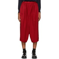 Comme Des Garcons Girl Red Wide Trousers