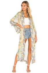 Spell And The Gypsy Collective Willow Maxi Kimono Yellow
