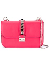 Valentino Garavani 'Glam Lock' Shoulder Bag Pink And Purple